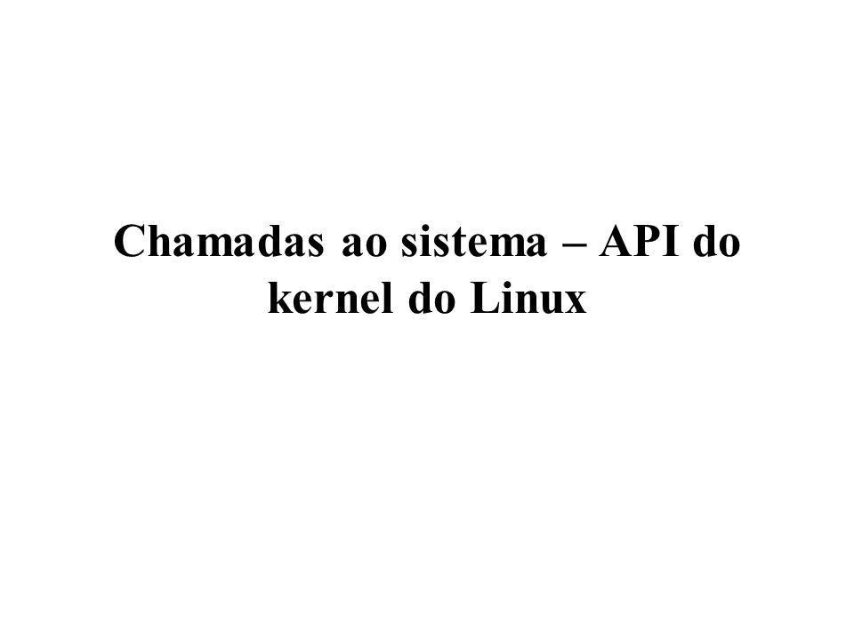 Chamadas ao sistema – API do kernel do Linux