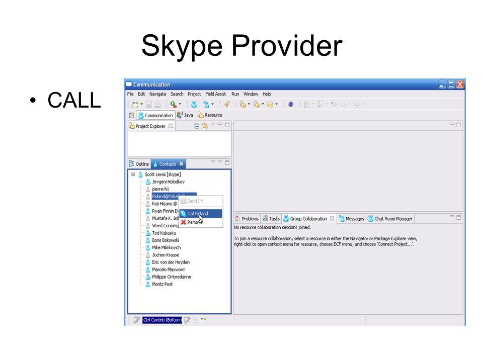 Skype Provider CALL