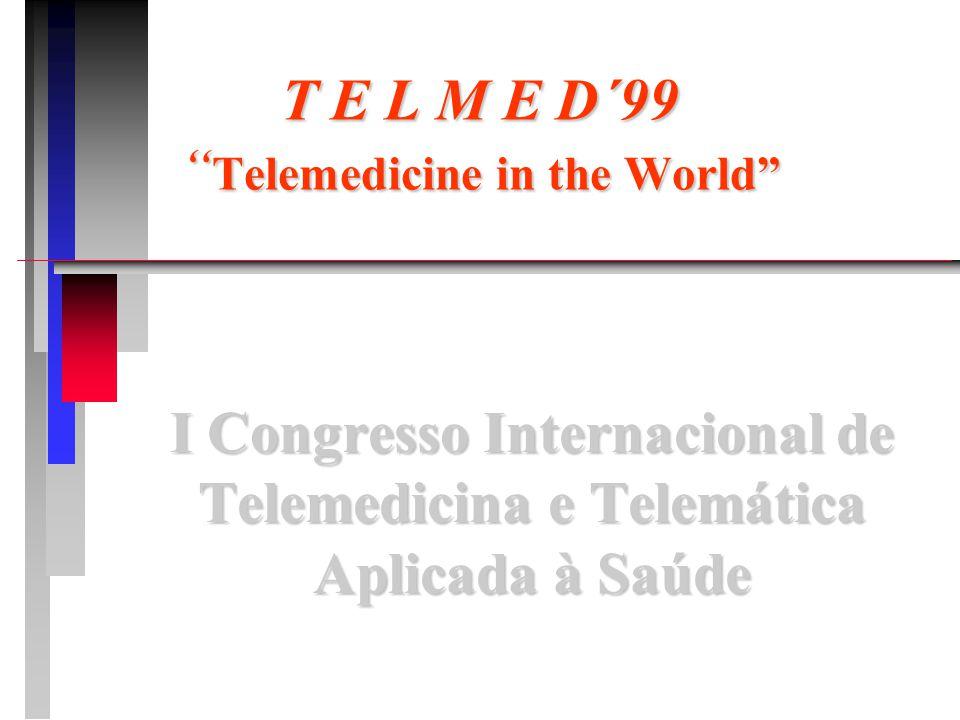 DESCRIÇÃO DO EVENTO n Evento: TELMED'99 - Telemedicine in the World n I Congresso Internacional de Telemedicina e Telemática Aplicada à Saúde n Local:AMCHAM / BRASIL n Data:29 e 30 de Novembro de 1999 n Horário:das 8:00 às 18:00 horas.
