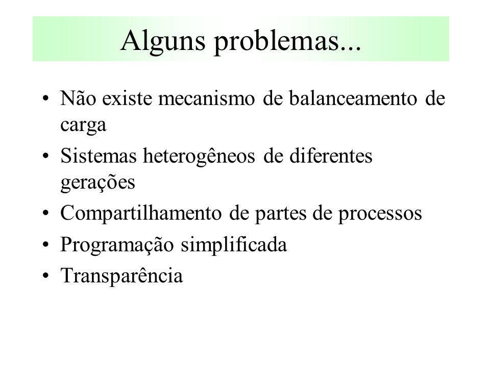 Alguns problemas...