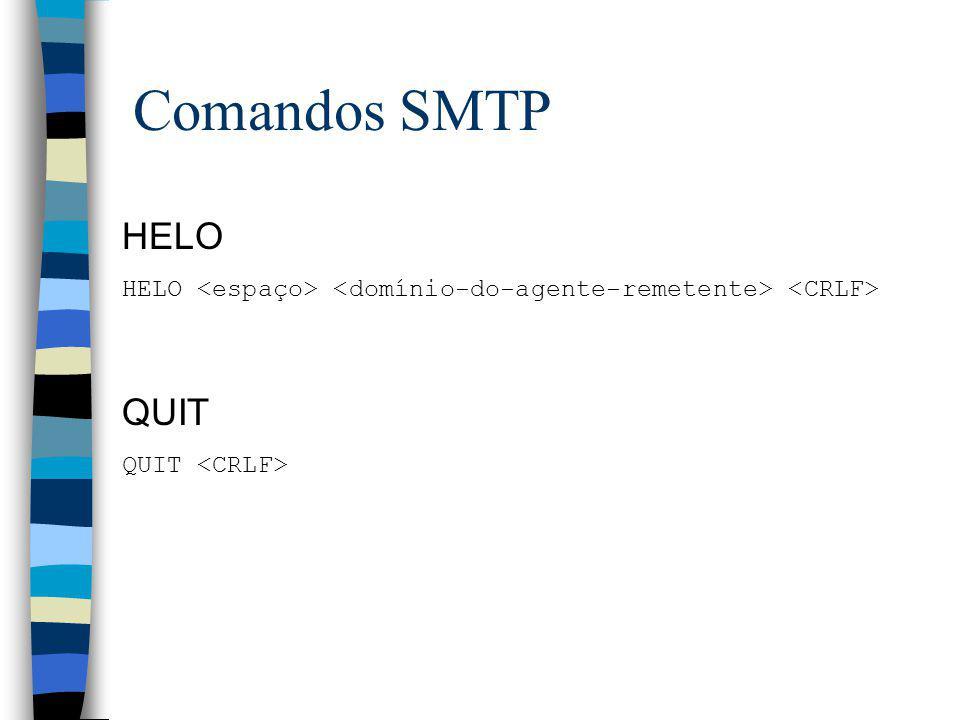 Comandos SMTP HELO QUIT