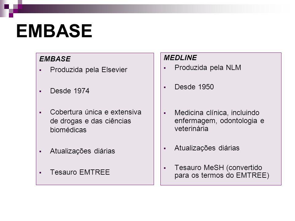 ENVIO DE REGISTROS POR E-MAIL EMBASE Clique para selecionar todos os registros (máximo 500) Selecione impressora Clique em E-mail Clique para selecionar alguns registros