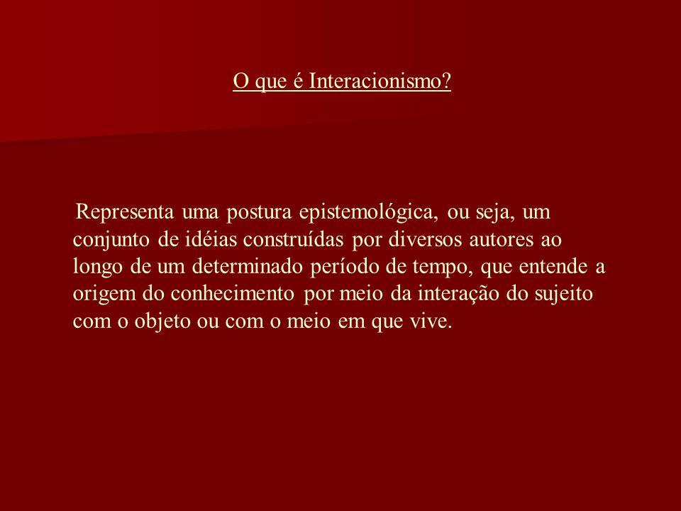 O que é Interacionismo.