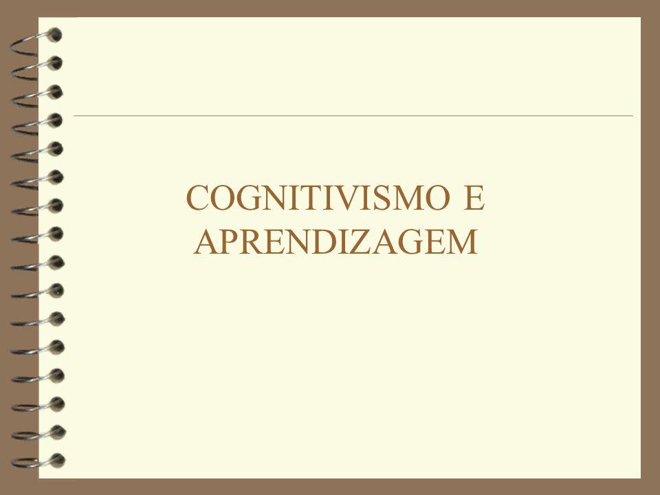COGNIÇÃO E APRENDIZAGEM 4 Cognitivo = referente ao conhecimento.