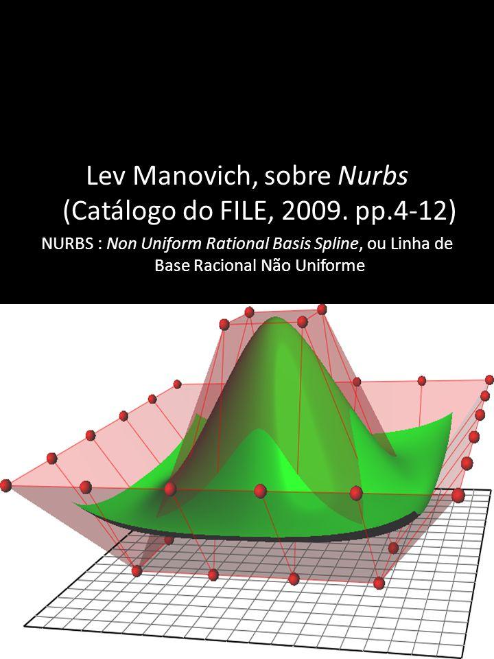Lev Manovich, sobre Nurbs (Catálogo do FILE, 2009.