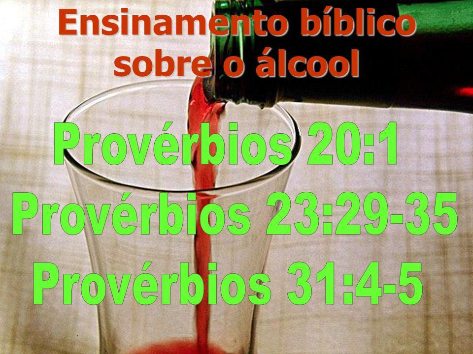 Ensinamento bíblico sobre o álcool