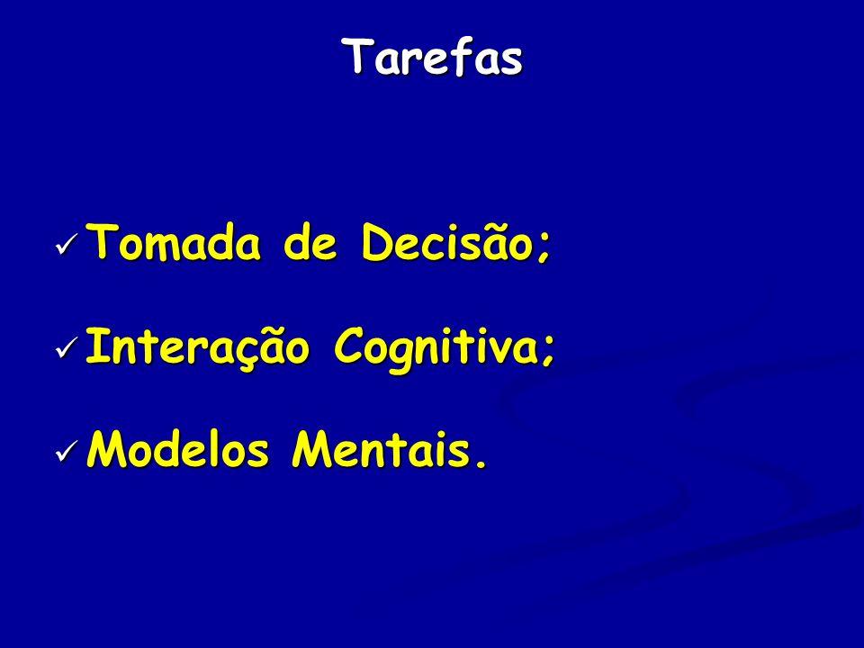 Tarefas Tomada de Decisão; Tomada de Decisão; Interação Cognitiva; Interação Cognitiva; Modelos Mentais.