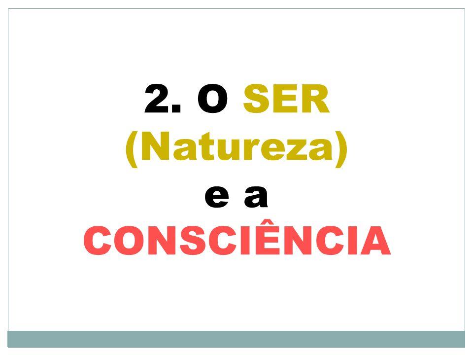 2. O SER (Natureza) e a CONSCIÊNCIA