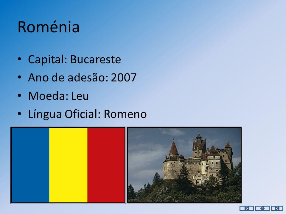 Portugal Capital: Lisboa Ano de adesão: 1986 Moeda: Euro Língua Oficial: Português