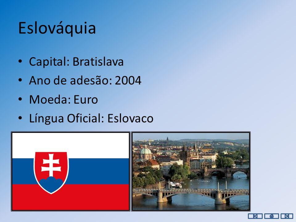 Roménia Capital: Bucareste Ano de adesão: 2007 Moeda: Leu Língua Oficial: Romeno