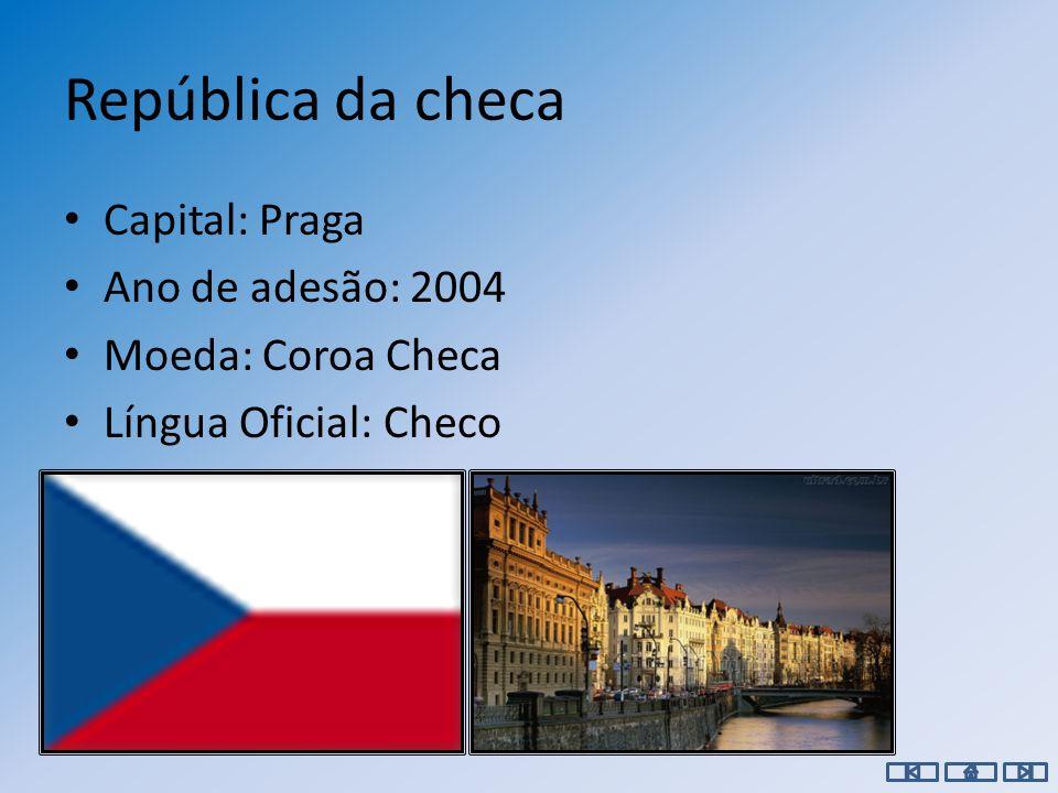 Chipre Capital: Nicósia Ano de adesão: 2004 Moeda: Euro Língua Oficial: grego, inglês