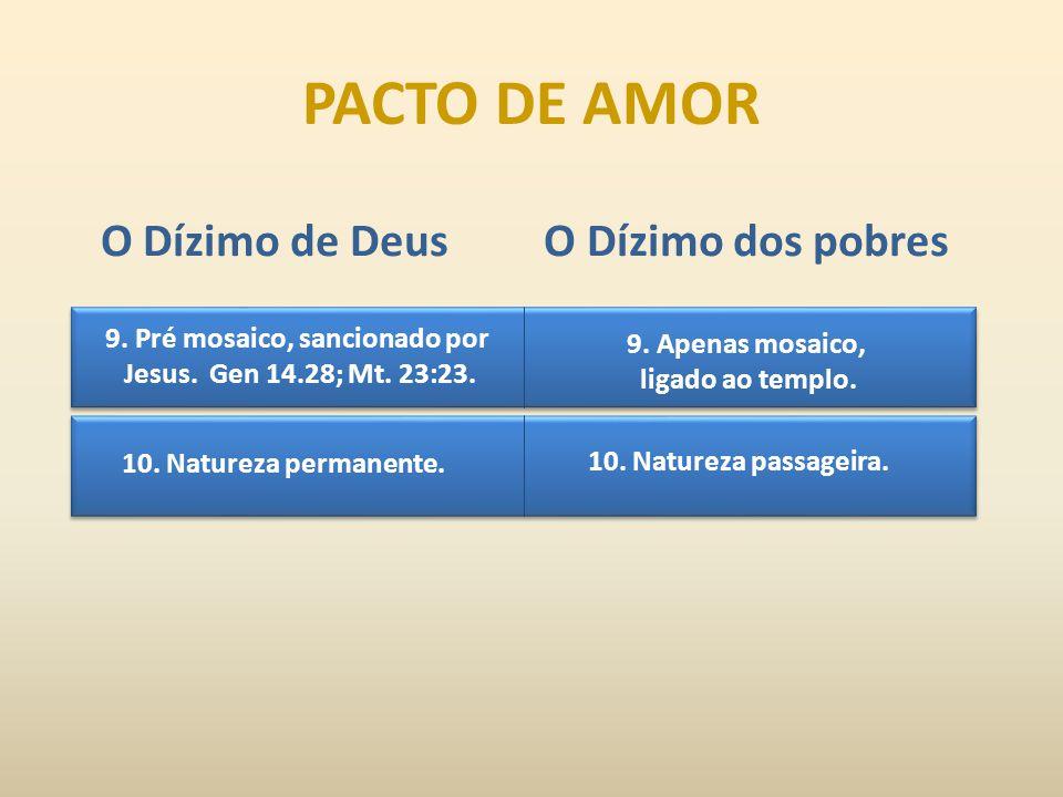 9.Pré mosaico, sancionado por Jesus. Gen 14.28; Mt.