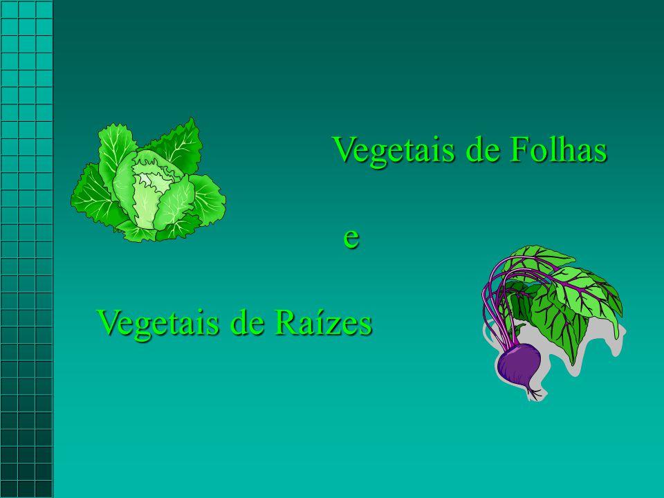 Vegetais de Folhas e Vegetais de Raízes