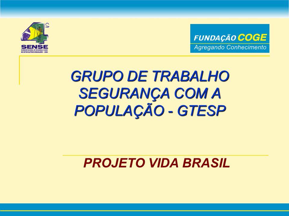 GRUPO DE TRABALHO SEGURANÇA COM A POPULAÇÃO - GTESP PROJETO VIDA BRASIL