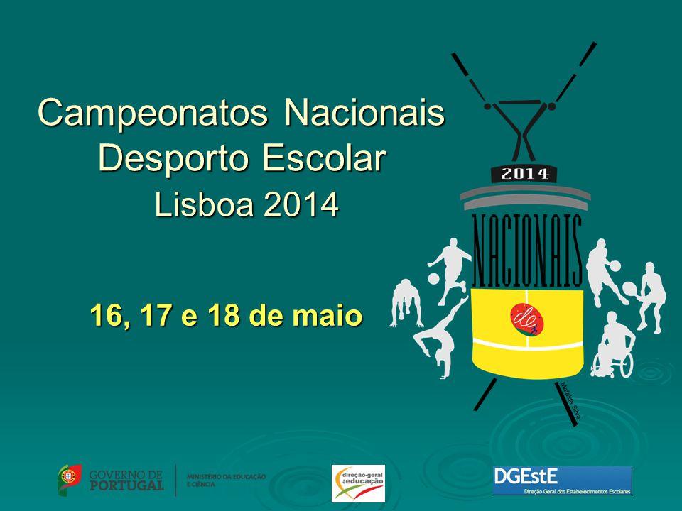 16, 17 e 18 de maio Campeonatos Nacionais Desporto Escolar Lisboa 2014
