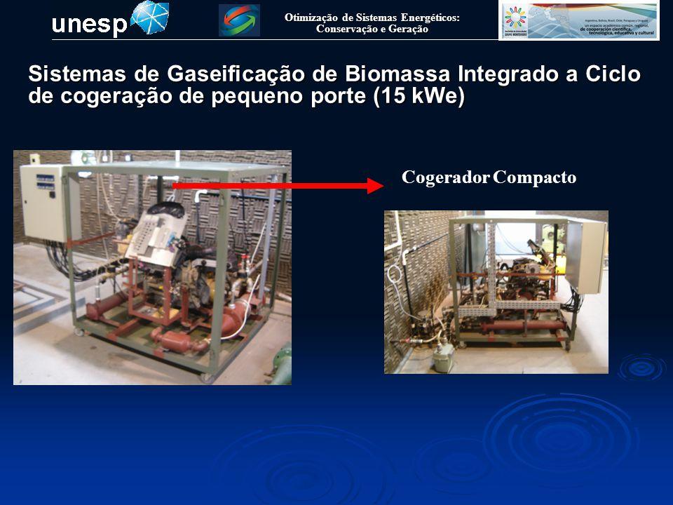 Otimização de Sistemas Energéticos: Conservação e Geração Cogerador Compacto Sistemas de Gaseificação de Biomassa Integrado a Ciclo de cogeração de pe