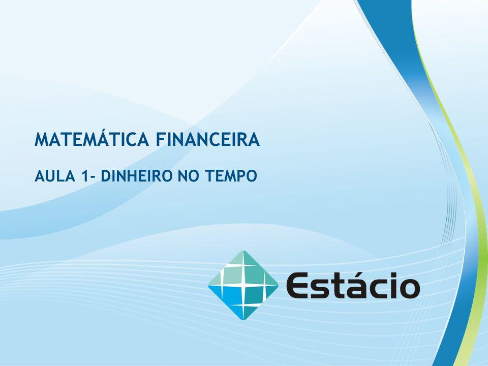 MATEMÁTICA FINANCEIRA AULA 1- DINHEIRO NO TEMPO