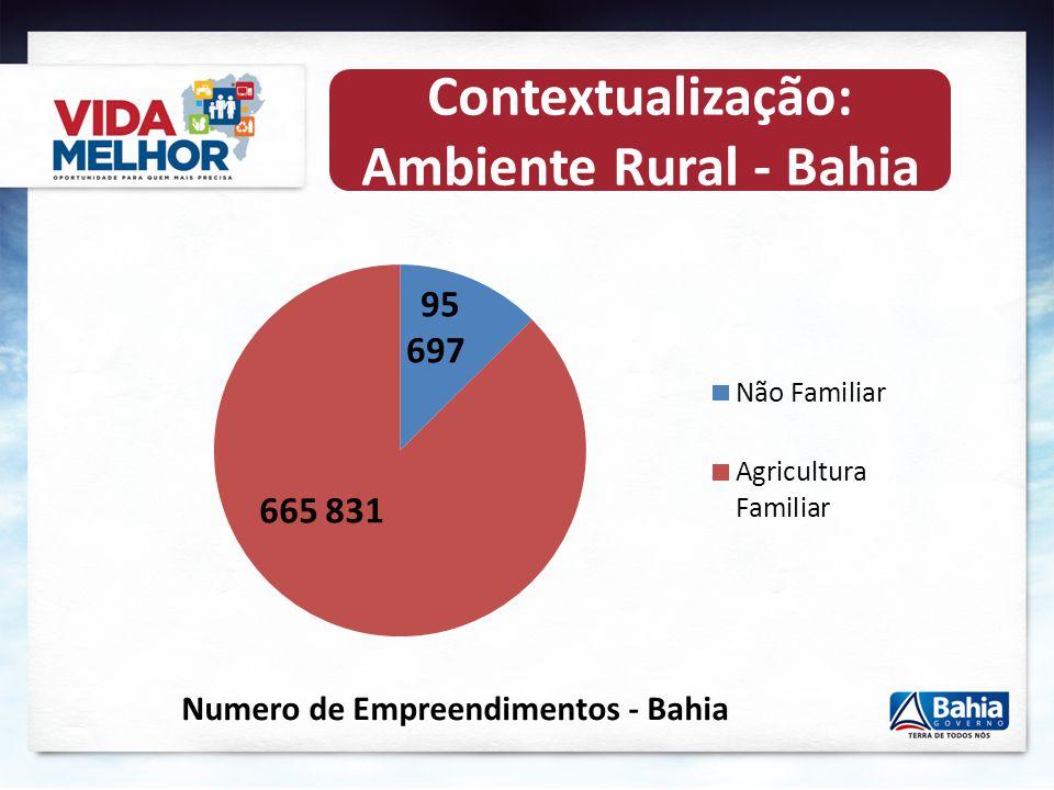 . Contextualização: População da Bahia População Rural: 3,9 milhões de habitantes (27,9 %) População Urbana: 10,1 milhões de habitantes (72,1 %) MAIOR