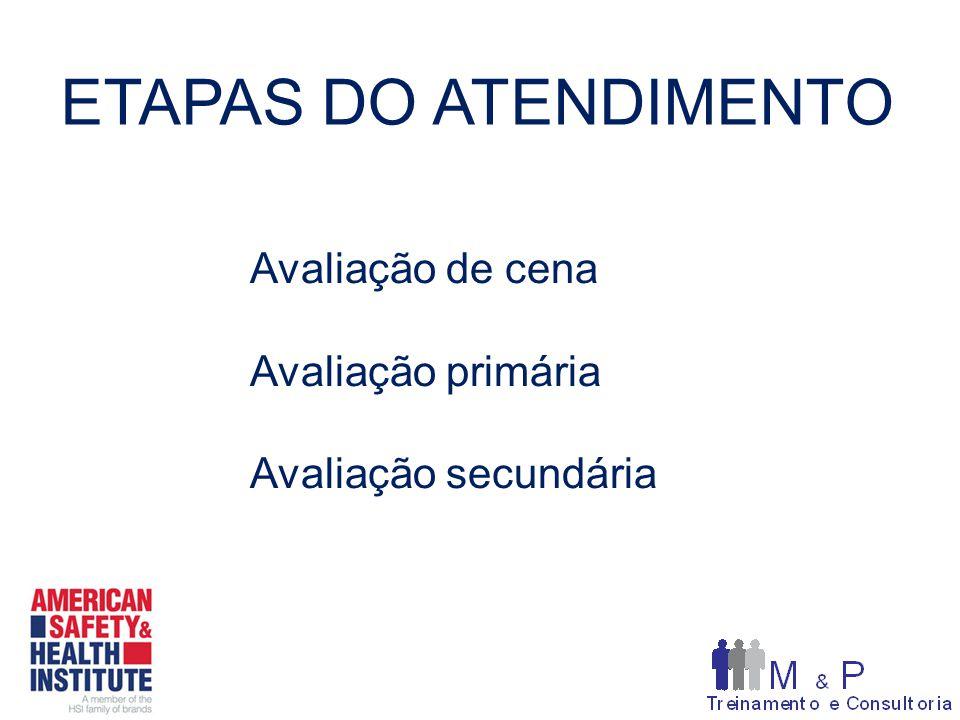 ETAPAS DO ATENDIMENTO Avaliação de cena Avaliação primária Avaliação secundária