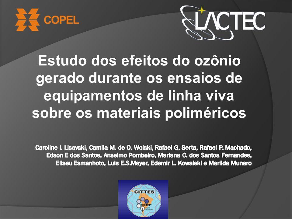 Variação das propriedades mecânicas em função do tempo de exposição ao ozônio das amostras de cobertura circular e de condutor Alongamento à rupturaTensão de ruptura Resultados
