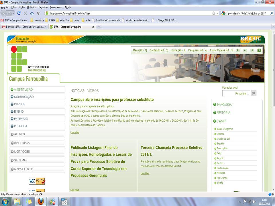 INSTITUTO FEDERAL DE EDUCAÇÃO, CIÊNCIA E TECNOLOGIA DO RIO GRANDE DO SUL NÚCLEO AVANÇADO DE FARROUPILHA