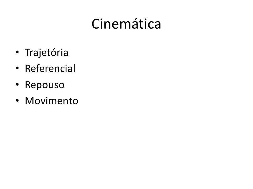 Cinemática Trajetória Referencial Repouso Movimento