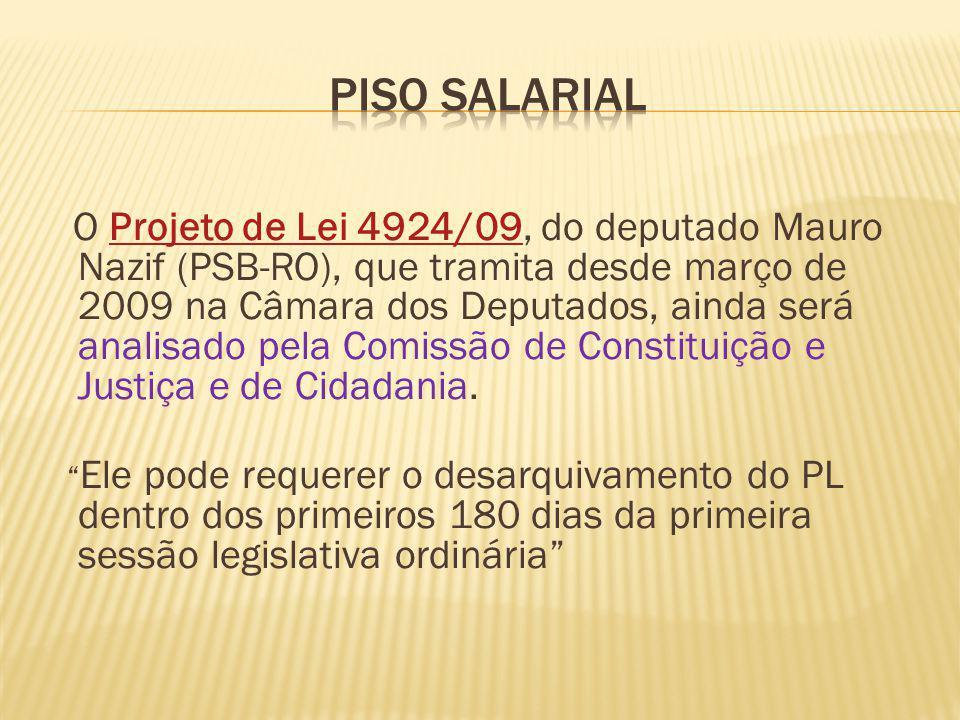 O Projeto de Lei 4924/09, do deputado Mauro Nazif (PSB-RO), que tramita desde março de 2009 na Câmara dos Deputados, ainda será analisado pela Comissão de Constituição e Justiça e de Cidadania.Projeto de Lei 4924/09 Ele pode requerer o desarquivamento do PL dentro dos primeiros 180 dias da primeira sessão legislativa ordinária