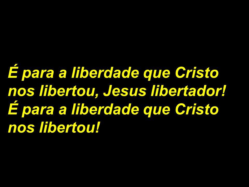 É para a liberdade que Cristo nos libertou, Jesus libertador! É para a liberdade que Cristo nos libertou!