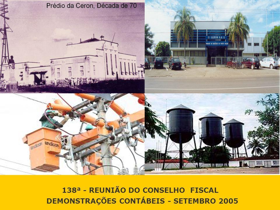 138ª - REUNIÃO DO CONSELHO FISCAL DEMONSTRAÇÕES CONTÁBEIS - SETEMBRO 2005 138ª - REUNIÃO DO CONSELHO FISCAL DEMONSTRAÇÕES CONTÁBEIS - SETEMBRO 2005