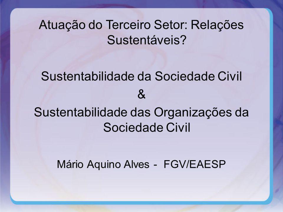 Atuação do Terceiro Setor: Relações Sustentáveis.
