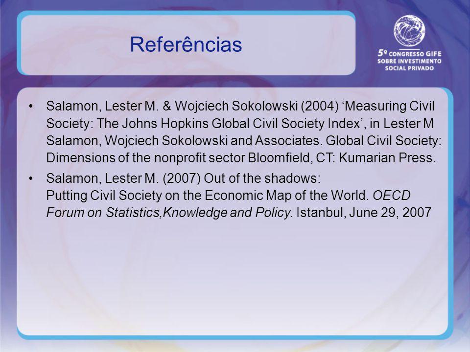 Referências Salamon, Lester M.