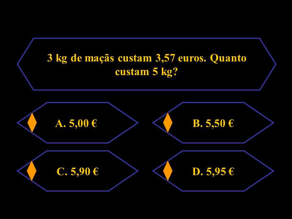 Na proporção 6 : x = 2 : 3 o valor de x é A. 12 B. 9 C. 6D. 18