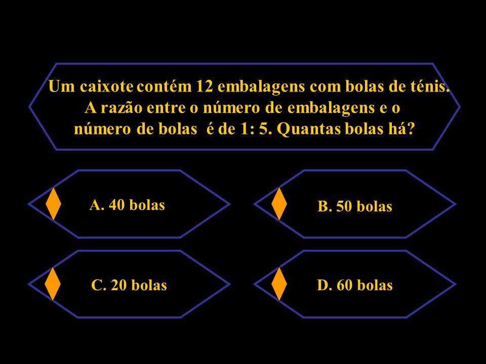 Considera a tabela: A.x = 2 e y = 10 B. x = 2,5 e y = 30 C.