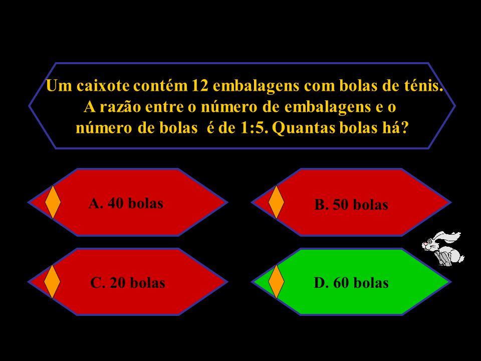 Considera a tabela: Ax510 B7,515y A.x = 2 e y = 10B.