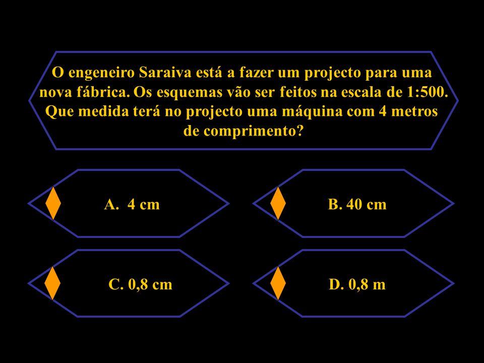 O engeneiro Saraiva está a fazer um projecto para uma nova fábrica.
