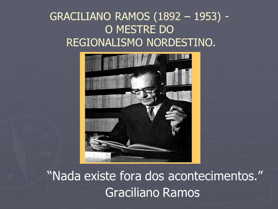 "GRACILIANO RAMOS (1892 – 1953) - O MESTRE DO REGIONALISMO NORDESTINO. ""Nada existe fora dos acontecimentos."" Graciliano Ramos"