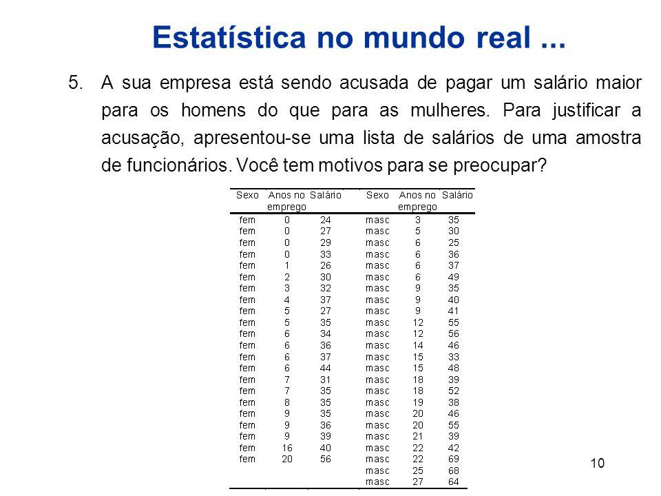 10 Estatística no mundo real...