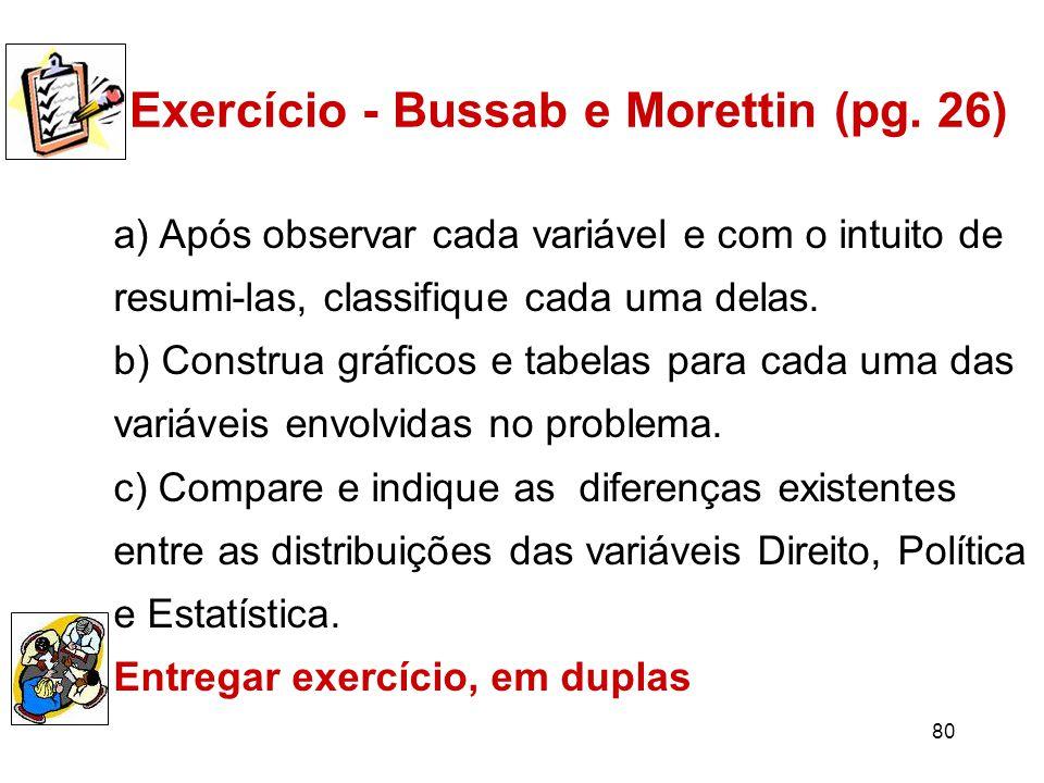 80 Exercício - Bussab e Morettin (pg.