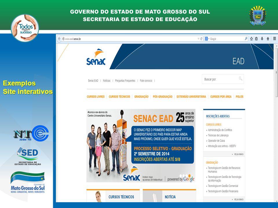 Curso - Aprenda a Criar Sites com domínio próprio Exemplos Site interativos