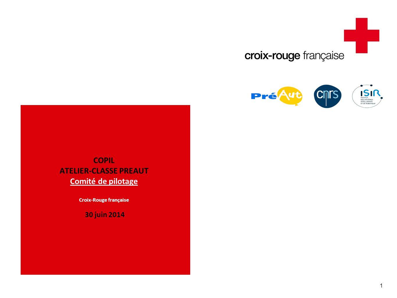 1 COPIL ATELIER-CLASSE PREAUT Comité de pilotage Croix-Rouge française 30 juin 2014
