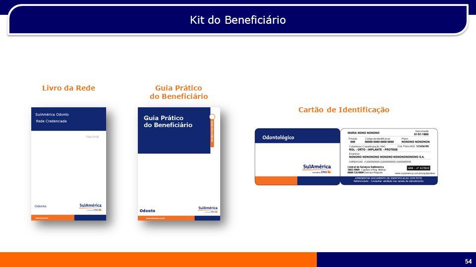 54 Kit do Beneficiário Livro da RedeGuia Prático do Beneficiário Cartão de Identificação