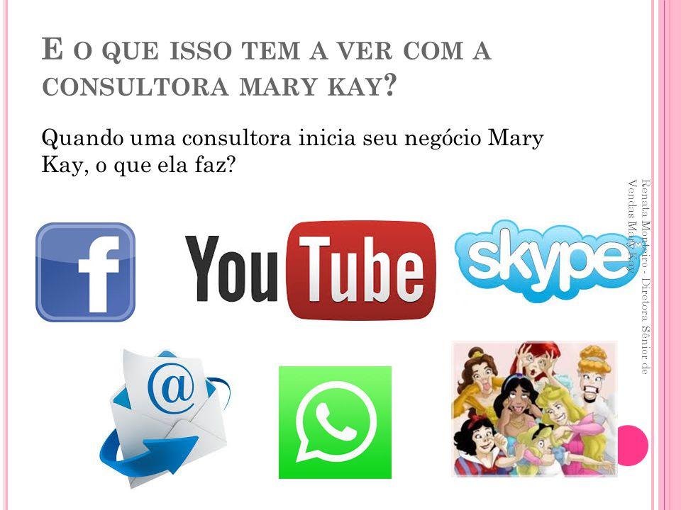 Renata Monteiro - Diretora Sênior de Vendas Mary Kay Venda semanal: R$ 620,00 Desconto de 25%: R$ 155,00 Desconto de 30%: R$ 186,00 Desconto de 35%: R$ 217,00 Desconto de 40%: R$ 248,00