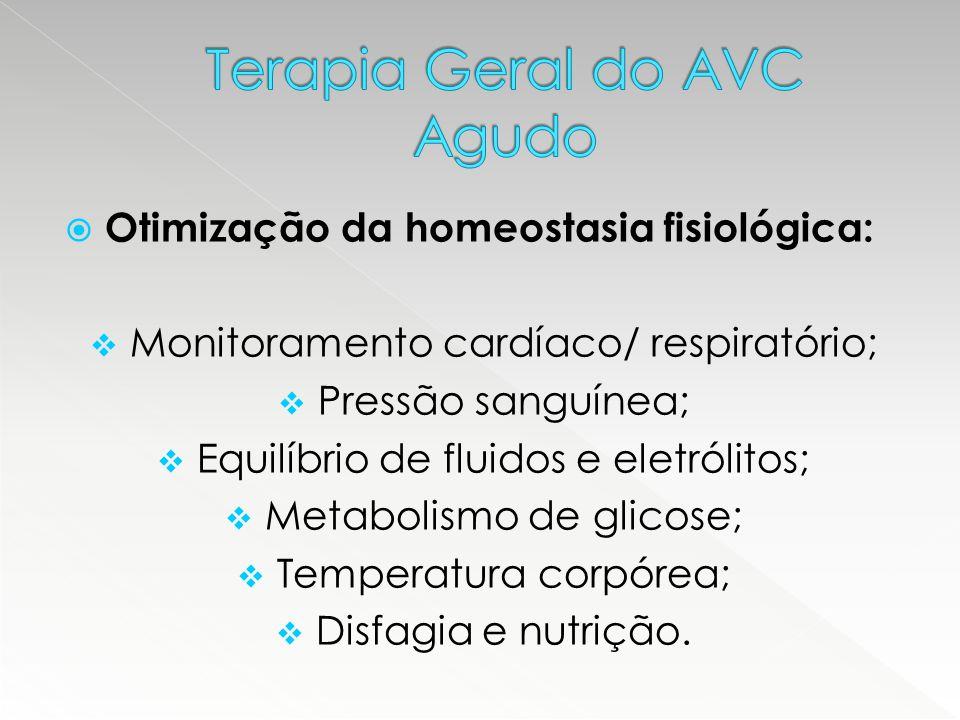  Otimização da homeostasia fisiológica:  Monitoramento cardíaco/ respiratório;  Pressão sanguínea;  Equilíbrio de fluidos e eletrólitos;  Metabol