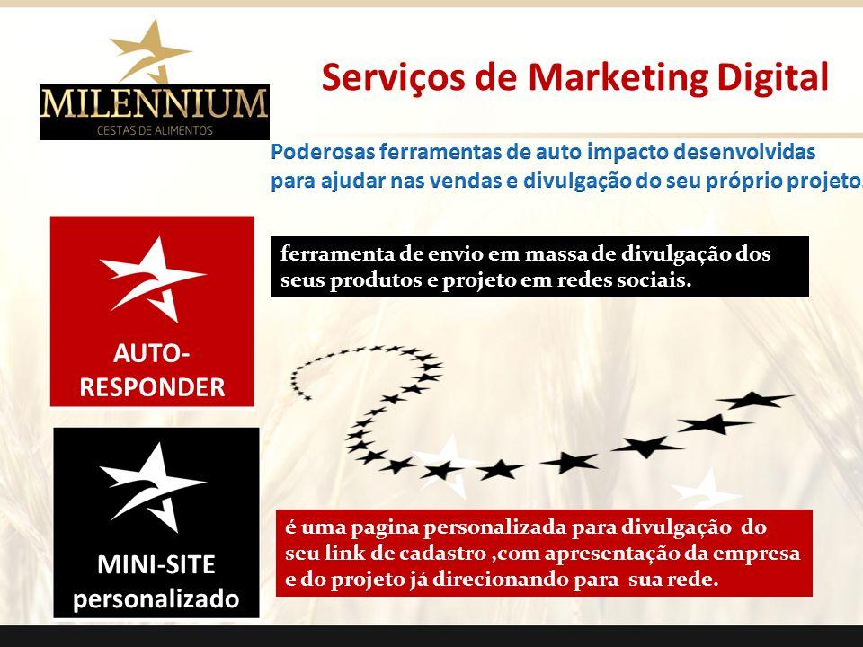 AUTO- RESPONDER MINI-SITE personalizado Serviços de Marketing Digital ferramenta de envio em massa de divulgação dos seus produtos e projeto em redes