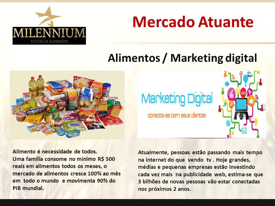 Alimentos / Marketing digital Atualmente, pessoas estão passando mais tempo na internet do que vendo tv. Hoje grandes, médias e pequenas empresas estã