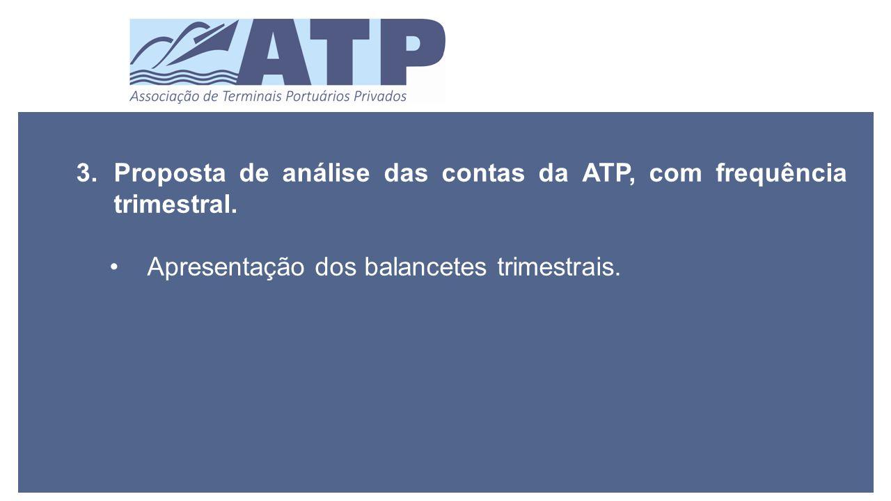 3.Proposta de análise das contas da ATP, com frequência trimestral.