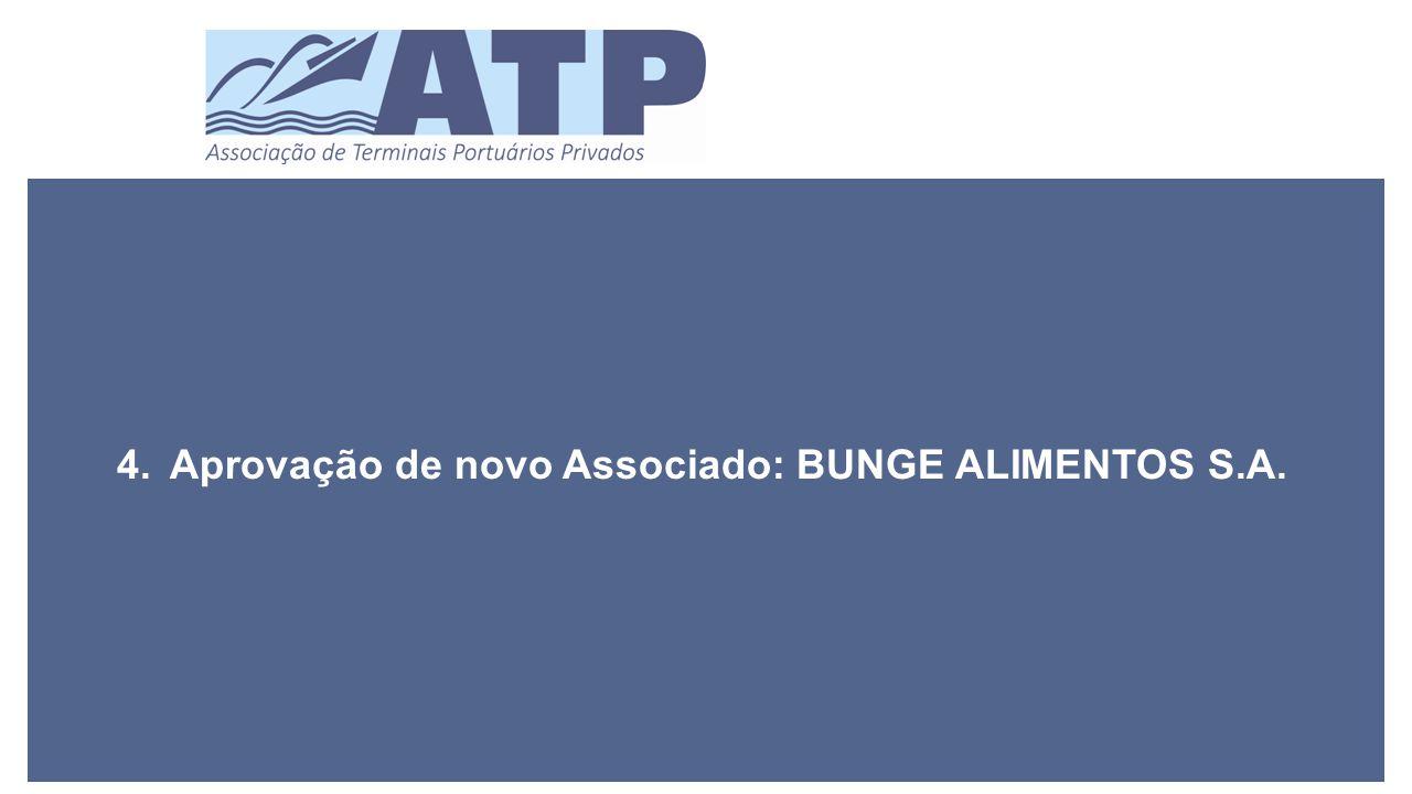 4.Aprovação de novo Associado: BUNGE ALIMENTOS S.A.
