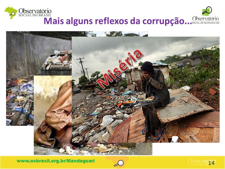 www.osbrasil.org.br/Mandaguari Mais alguns reflexos da corrupção... 14