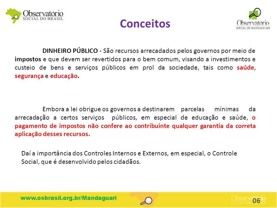 DINHEIRO PÚBLICO - São recursos arrecadados pelos governos por meio de impostos e que devem ser revertidos para o bem comum, visando a investimentos e