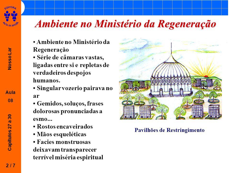 Nosso Lar Aula 08 Capítulos 27 a 30 Ambiente no Ministério da Regeneração 2 / 7 Ambiente no Ministério da Regeneração Série de câmaras vastas, ligadas